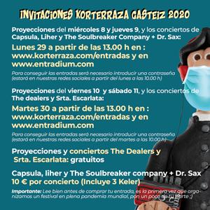 Consigue tus invitaciones para Korterraza Gasteiz 2020