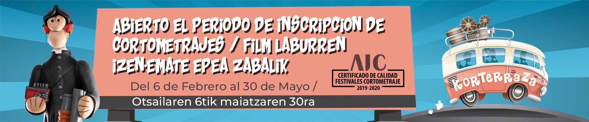Nueva fecha para el cierre del periodo de inscripción de cortometrajes