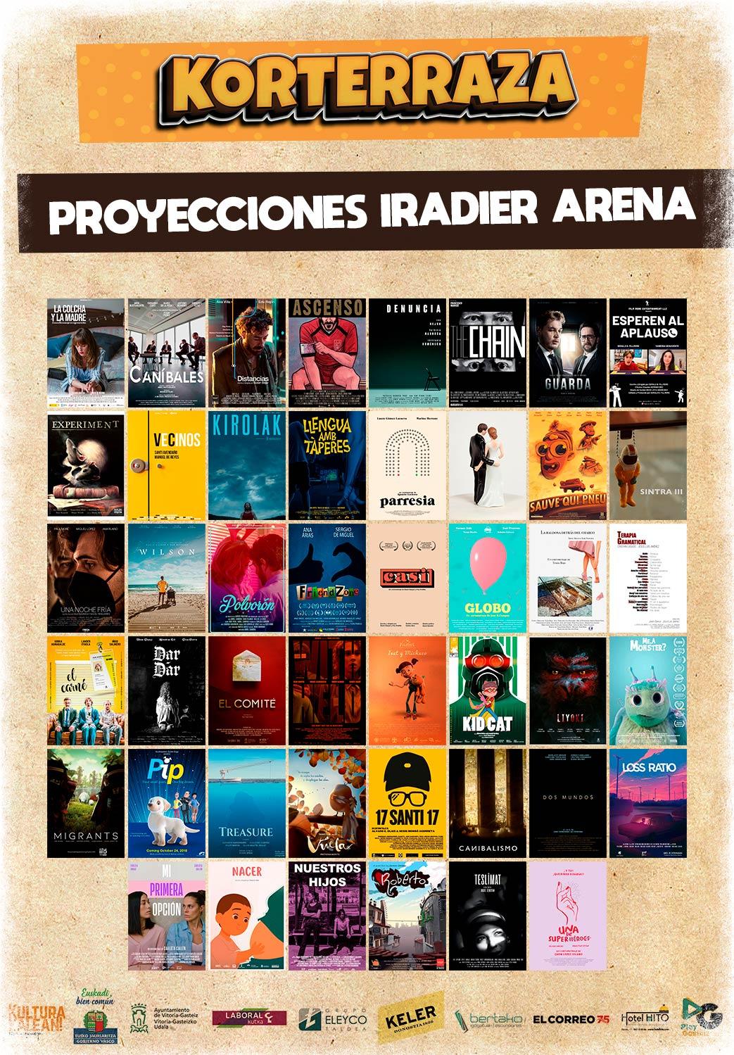 Proyecciones Korterraza 2021 en el Iradier Arena